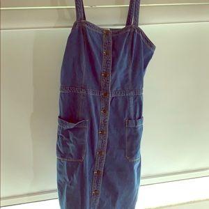 OLD NAVY DENIM BUTTON DOWN DRESS XL